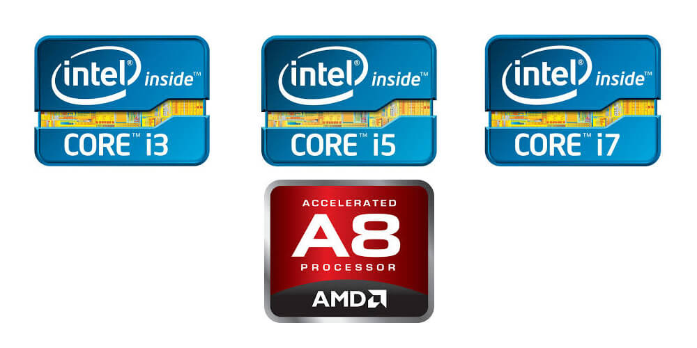 Intel Core i3 vs. i5 vs. i7 (4th, 5th & 6th gen) vs. AMD A8 series