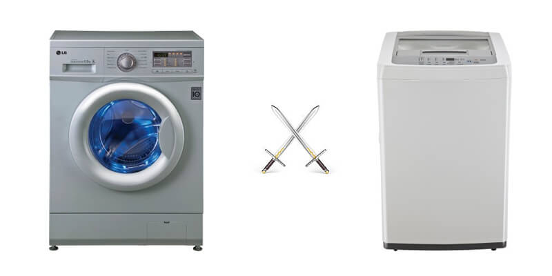 front load vs top load washing machine