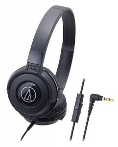 Audio-Technica Street Monitoring ATH-S100iSBK Portable Headphone