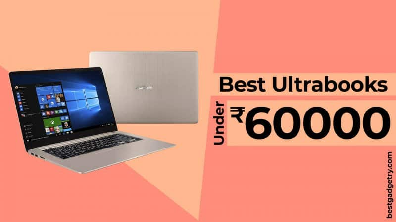 Best Lightweight Laptops and Ultrabooks under 60000 in India