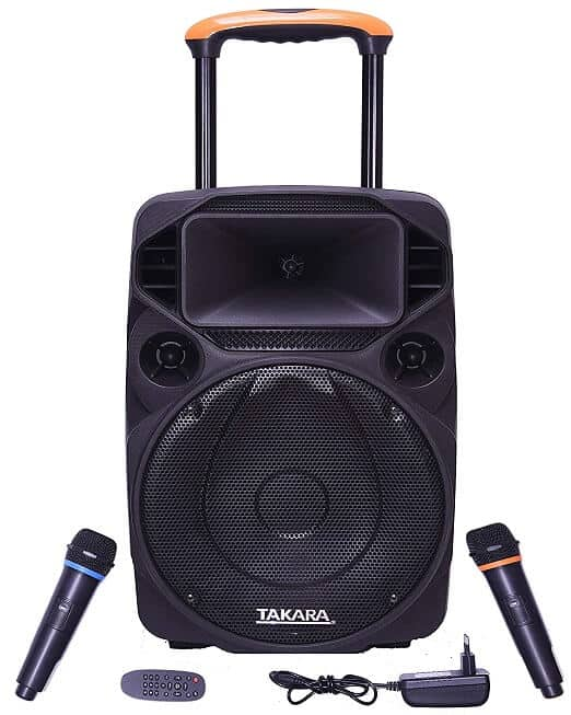 TAKARA Portable Trolley Karaoke Speaker