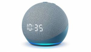 Amazon Echo Dot (4th Gen) with clock